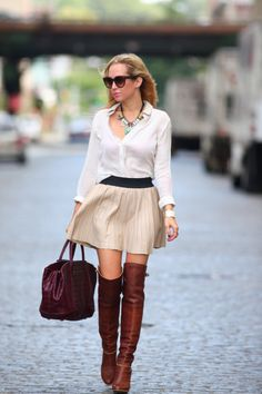 Brooklyn Blonde- over the knee boots
