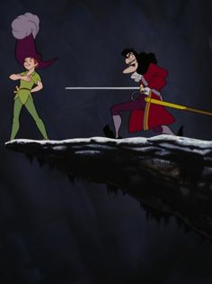Peter Pan and Captain Hook Disney Films, Disney Villains, Disney Cartoons, Disney Pixar, Walt Disney, Disney Posters, Peter Pan 1953, Peter Pan Art, Disney Love