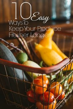 Great tips here on how to make your produce last longer! #5 is my favorite, I use it almost every week. 10 great tips to check out!
