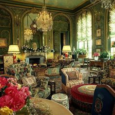 Gorgeous Victorian Drawing Room - The Withdrawing Room (or Drawing Room) was the one room in the house where Victorian aristocrats could withdraw to relax together without fear of public scrutiny.