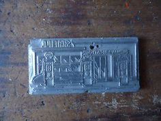 Vintage Industrial Metal Printing Plate - Shell Service Station