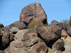 Painted Rocks Petroglyphs near Gila Bend, AZ.