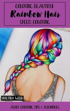 Drawing Hair Techniques Coloring Beautiful Rainbow Hair - Coloring skills not up to par? This massive collection of adult coloring tutorials will show you new techniques for colored pencils, markers and more! Drawing Techniques Pencil, Watercolor Pencils Techniques, Colored Pencil Techniques, Art Techniques, Pencil Drawings, Shading Techniques, Kawaii Drawings, Coloring Tips, Adult Coloring Pages