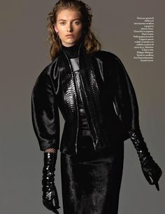 Paris noir. Amica october 2013 model: iris van berne (next) photographer: cometti stylist: ellen af geijerstam (lundlund) hair: philippe baligan (blossom) make-up: karin westerlund (mikas)