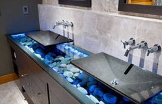 Rocks in Sink for Decoration   Modern Interior Design and Backyard Landscaping Ideas Bringing Stone ...