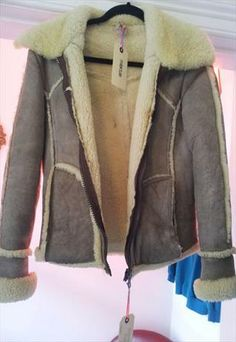 lovely suede flying jacket £25