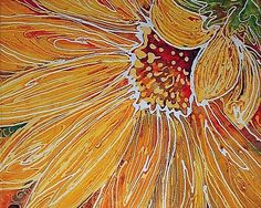 Art: BATIK SUNFLOWER by Artist Marcia Baldwin