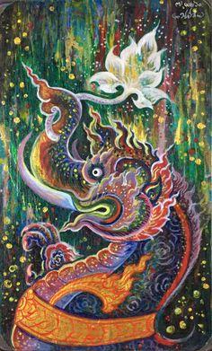 คชสีห์ Thai art painting