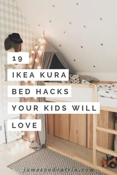 19 Ikea Kura Bed Hacks your Kids will Love – james and catrin Ikea have created a wonderful toddlers bed that is perfect for customising in whatever way you like. You can hack the Ikea KURA bed to . Kura Bed Hack, Ikea Kura Hack, Ikea Hack Bedroom, Ikea Hack Kids, Bedroom Hacks, Bedroom Decor, Ikea Beds For Kids, Ikea Hacks, Diy Hacks