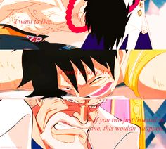Ace, Luffy, Garp -one piece