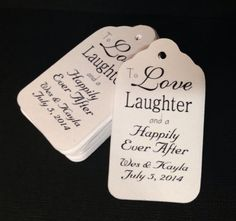 100 MEDIUM SIZE To Love and Laughter and a by TiaZoeyTeaStained