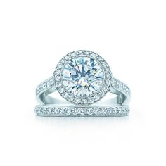 Round Brilliant With Bead-set Border Engagement Rings | Tiffany & Co.