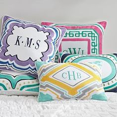 Dorm Throw Pillows & Collegiate Throw Pillows   PBteen