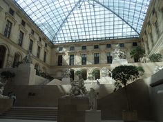 Just in the middle of the Louvre