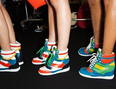 New Marc Jacobs high-top sneakers!! Love the colors!!