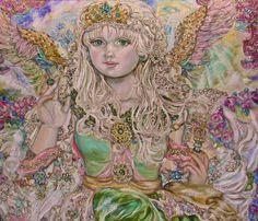 Yumi Sugai. An emerald angel. - Yumi Sugai angels.
