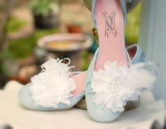 Shoe Clips White Flower Feathers & Pearls Chic by sofisticata, $44.00
