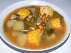 Sayur asem: Mix vegetables with sour and spicy soup. A popular side dish in Indonesia, usually eaten with fried chicken or gepuk (fried coconut milk marinated meat).