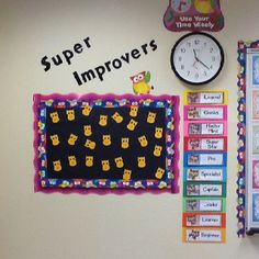 Owl themed Super Improvers Wall/ Whole Brain Teaching