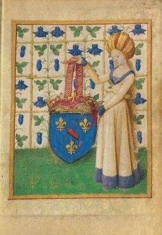 Female Heraldic Figure Holding Escutcheon (Getty Museum)