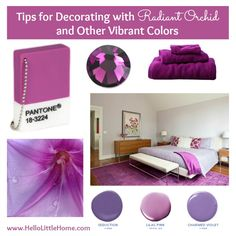 Tips for Decorating with Radiant Orchid & Other Vibrant Colors | Hello Little Home