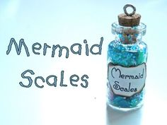 ▶ Mermaid Scales Bottle Charm - YouTube