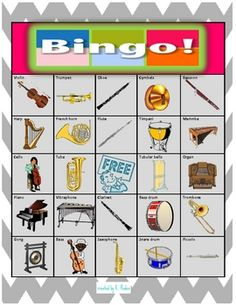 Music Bingo games cost a lot when you're on a limited budget. I created this version to use in my own classroom--the pictures are large and in bri...