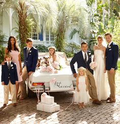 Lauren Ralph Lauren Wedding: Blush and navy hues are an elegant, unexpected match for a casual warm-weather wedding.