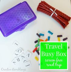 Create a Travel Busy Box for a Screen Free Road Trip #TwizzlersSummer [ad]