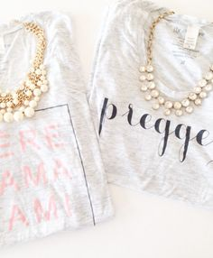 cute way to announce baby with this 'preggers' tee