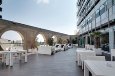Terraza de Rafaelhoteles #Badalona