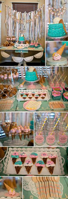 great party ideas Ice Cream Themed Birthday Party