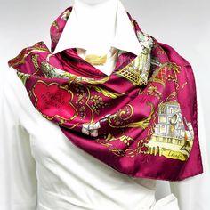 Authentic Hermes Silk Jacquard Scarf La Comédie Italienne w/Box – Carre de Paris
