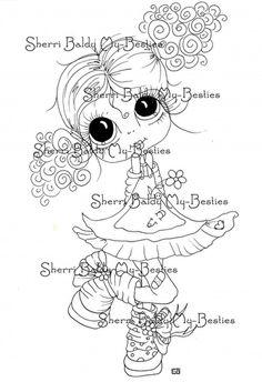 Little Garden Darling My-Besties digi stamp by Sherri Baldy