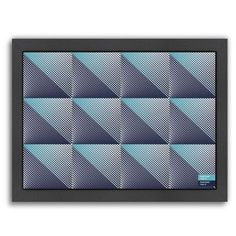 Americanflat Triangles 3 by Armand Framed Graphic Art Size: