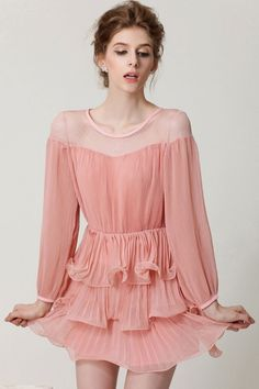 Discover Cute Ruffled Layered Dress in Dresses