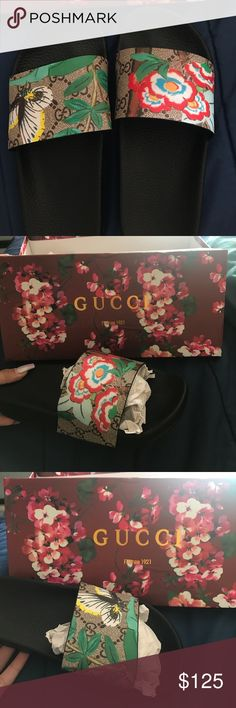 gucci slides size 38 (or 7/8) brand new never worn bought for a friend but didn't fit Gucci Shoes Sandals