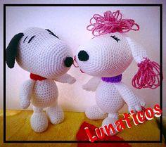 Snoopy and Fifi Amigurumi Crochet by Lunaticos on Etsy