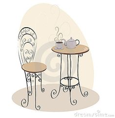 French Cafe Table Royalty Free Stock Photo - Image: 16000975