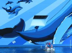 Floating Works of Cruise Ship Art are Big Hits on Social Media Norwegian Breakaway, Most Famous Artists, Norwegian Cruise Line, Ship Art, Artwork Design, Backdrops, Social Media, Painting, Big