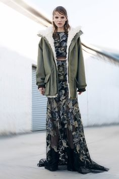The dress underneath! Yessss.  BCBG Max Azria   Pre-Fall 2014 Collection   Style.com