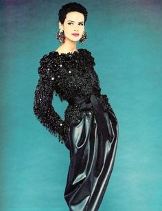 Nadege du Bospertus for Yves Saint Laurent, 1980's