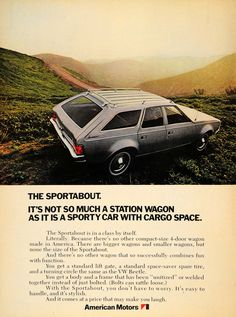 1971 Ad Sportabout Station Wagon American Motors Cars - ORIGINAL ADVERTISING TM3