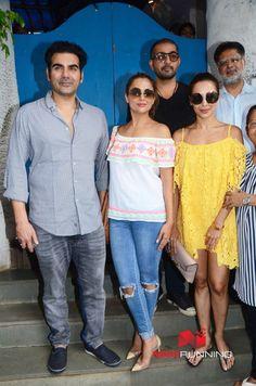 Arbaaz Khan, Malaika Arora and family snapped post Lunch at Olive