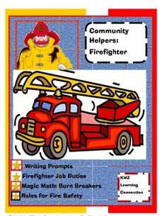 Stop, Drop and Roll!  This four page bundle provides information and activities on fire prevention and firefighters as 'health helpers'  in their communities.  This activity book could be used as in English language arts, science, health or social studies classes.