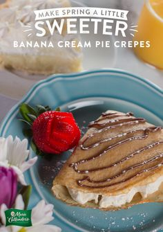 Your brunch guests will love these crepes with the rich banana custard of our Banana Cream Pie inside. Who says you can't eat dessert first?