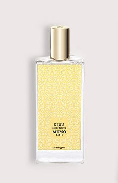 MEMO PARIS - SIWA. WOMAN!!! Siwa by Memo is a Oriental fragrance for women. Siwa was launched in 2007. The nose behind this fragrance is Alienor Massenet. Top notes are aldehydes and violet leaf; middle notes are whiskey, narcissus and cinnamon; base notes are popocorn, musk and vanilla.