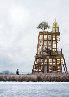 German graphic designer Matthias Jung has created a series of dreamlike and structurally impossible collages with Photoshop Collages, Collage Art, Photomontage, Beautiful Collage, Art Graphique, The Real World, Worlds Of Fun, Photo Manipulation, Croque Monsieur