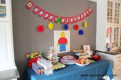 Lego Party - birthday ideas, decorations, and free printables