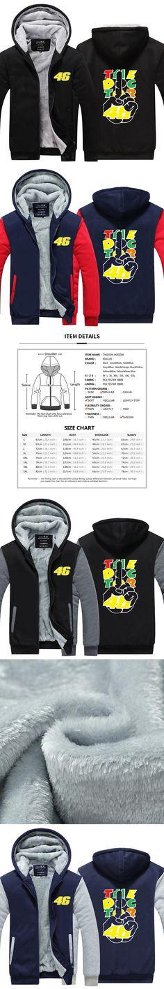 MOTO GP Rossi VR 46 The Doctor Men Hoodies Motorcycle Loose   Casual Thicken Fleece Zipper Jacket USA EU size Plus size